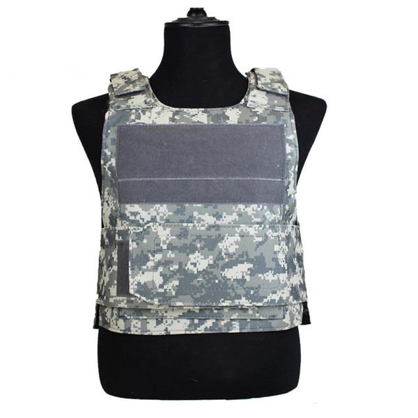 Fan camuffamento giungla esercito tattico equipaggiamento da combattimento protezione combattimento mens battaglia swat treno armatura giacca senza maniche