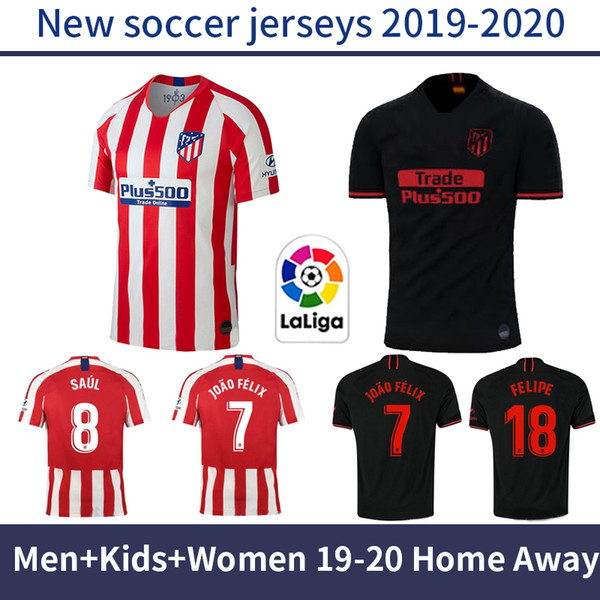 Men Atletico Madrid Home Away Jer Ry 19 20 Kid Kit Occer Jer Ey 2019 2020 Joao Felix Cami Eta De Futbol Maillot Women Football Hirt Buy At The Price Of