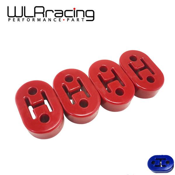 RACING WLR - Bleu, Rouge, Jaune, polyuréthane échappement / Silencieux COURT HANGERS 4pcs / lot WLR8952 universel