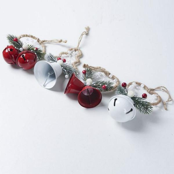Dekore Noel ağacı Bell kolye Süsler Noel Partisi Dekorasyon Asma Yaratıcı Noel Bells Ferforje Boyalı Bells