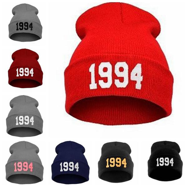 Number 1994 Beanie Sport Winter Beanie Cap Men Hat Beanie Knitted Winter Hip Hop Hats For Women Fashion Caps