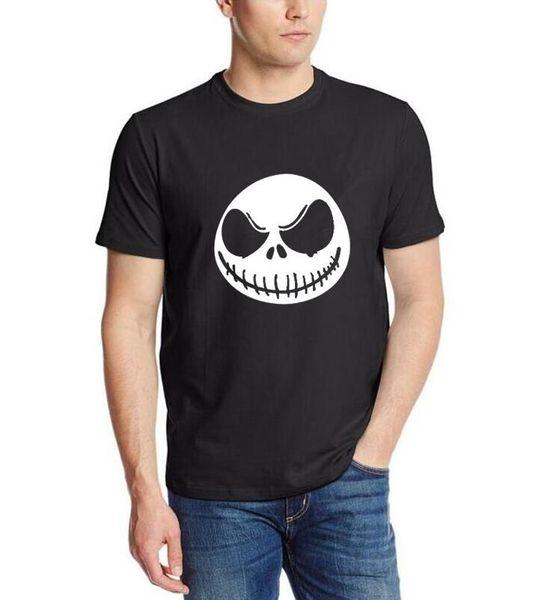 Nova Moda Mens T Camisa Pesadelo Antes do Natal Jack Skellington T-shirt Do Carvão Vegetal Masculino Engraçado Hip-Hop Roupas de Marca Tops Tee