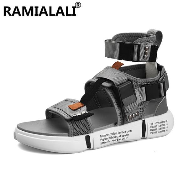 Ramialali Yaz Erkek Sandalet En Kaliteli erkek Plaj Sandalet Erkek Açık Ayakkabı Yaz Rahat Ayakkabılar Erkekler Terlik