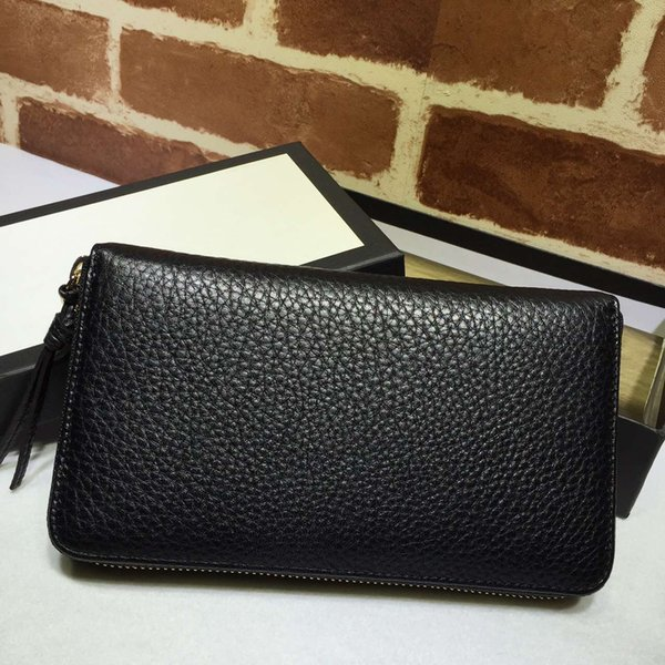 Hot sale famous fashion brand women long purse original material leather zipper dinner package metal willow nail carving luxury bag.