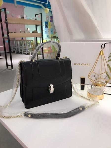 2019 Borsa a mano Stilista famoso marchio di moda Moda donna Tote spalla Lady Borse in pelle Borse Borsa nera 0723