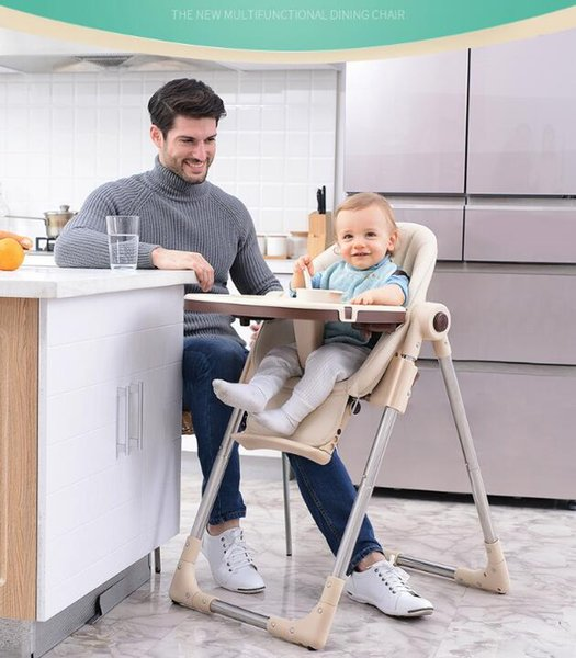 Authentic portable baby seat baby dinner table multifunction adjustable folding chairs for children High chair Antiskid chair