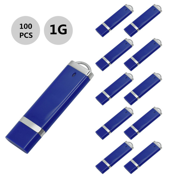 j_boxing Blue 100PCS 1GB USB 2.0 Flash Drives Lighter Model Pen Drives USB Memory Stick Thumb Storage for PC Laptop Macbook Tablet U Disk
