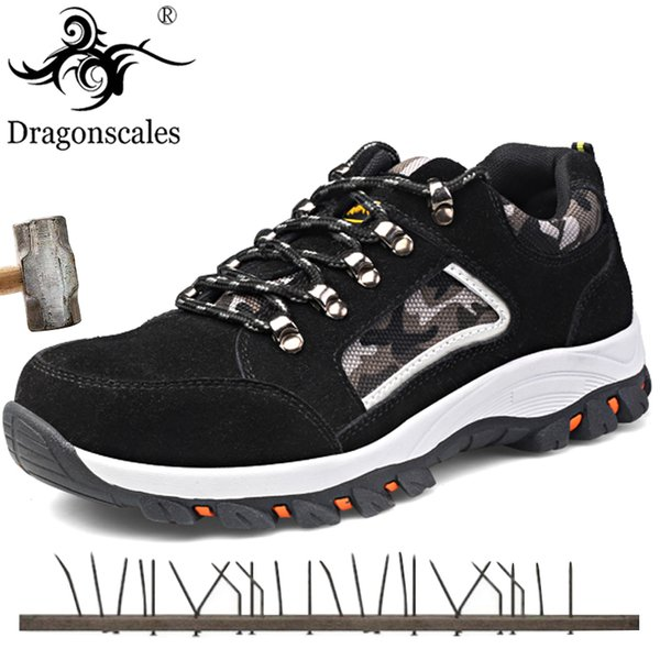 Big size New Safety Shoes For Men Winter Snow Boots Warm Fur&Plush Lace Fashion Mens Camouflage Army Work Shoes Sneakers Boots