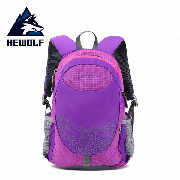 Hewolf Outdoor Children Bags 18L Breathable Sports Bag Ultralight Waterproof Backpack Travel Camping School Backpack #302094