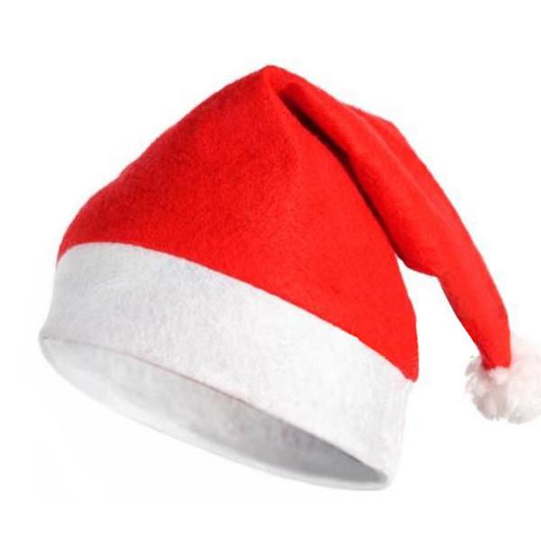 100 pcs Per Lot Christmas Hat for Girl Children Men Women Xmas Non-woven Santa hat Decor Christmas Gift