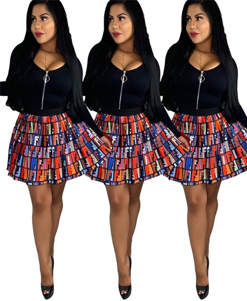 Designer Double F Letters Pleated Skirt Fends Summer Dresses Girls Prom Evening Dresses Teenager Cheerleaders Mini Skirts Clothing C61808