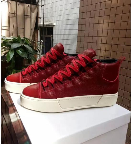 Arena Sneakers Erkek süper kalite koyun hakiki deri üst marka arena ayakkabı moda kanye west yüksek sneakers