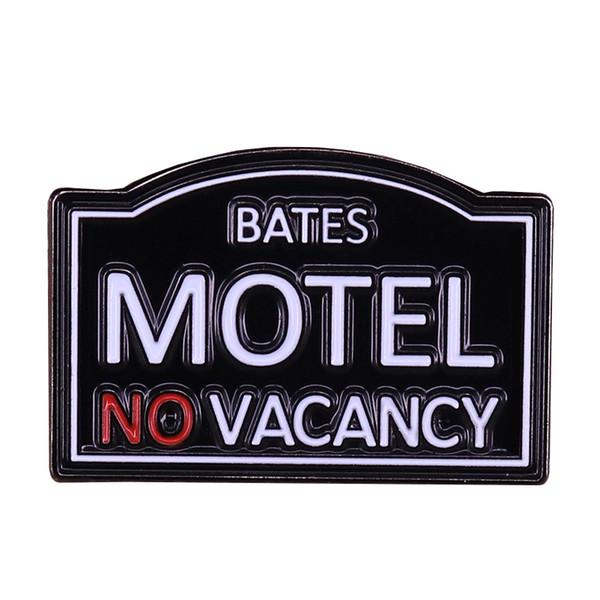 Bates Motel horror Movie Prop Pin Badge Alfred Hitchcock fan regalo amante del cinema spilla