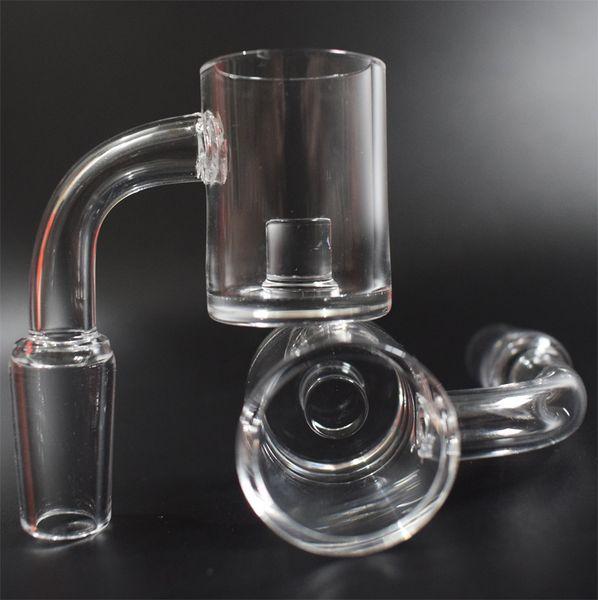 DHL Hot sale 25mm Honey Bucket XL Core Reactor Quartz Banger Nail 4mm Bottom Flat Top Quartz Nail for oil rig Glass Bongs