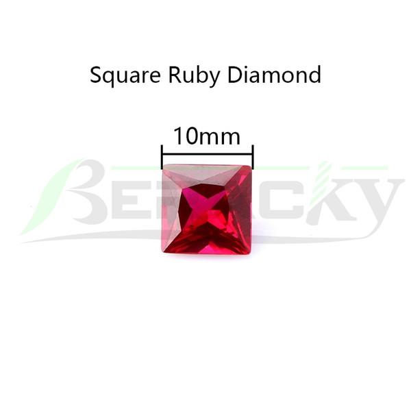 Квадратный Алмаз Рубин