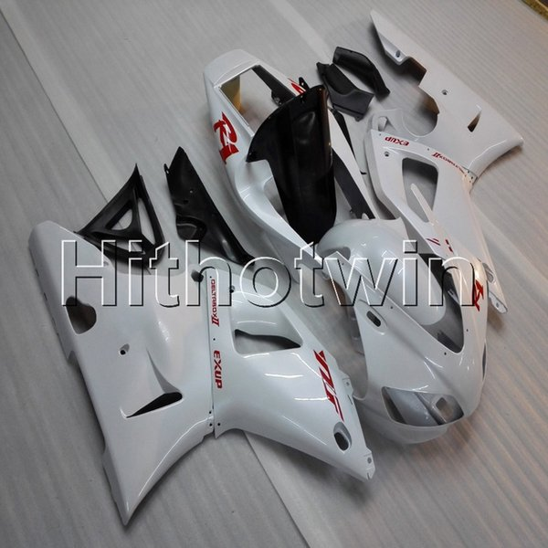 Gifts+Screws white motorcycle cover for Yamaha YZF-R1 98 99 YZFR1 1998 1999 ABS Plastic Fairing
