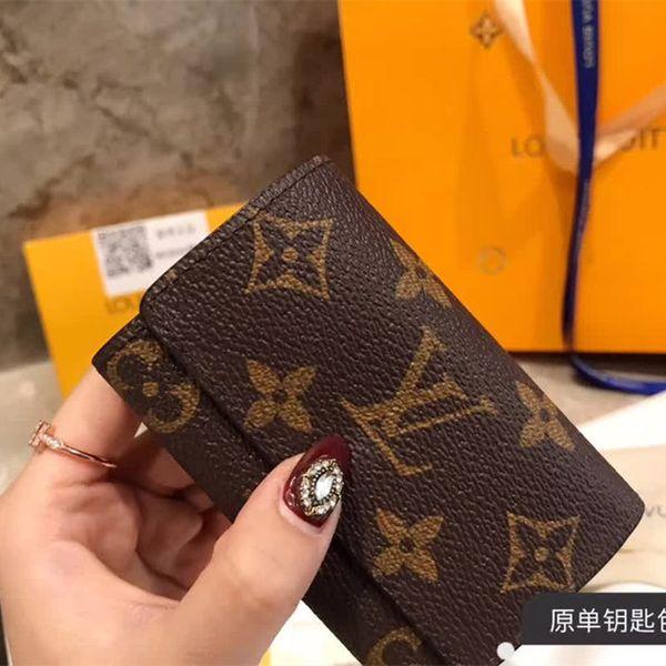 Il più nuovo cuoio genuino Keychian Wallet Designer Portachiavi di marca Portachiavi Classic Vintage portafogli chiave per le donne degli uomini Best Gift Car Keychians