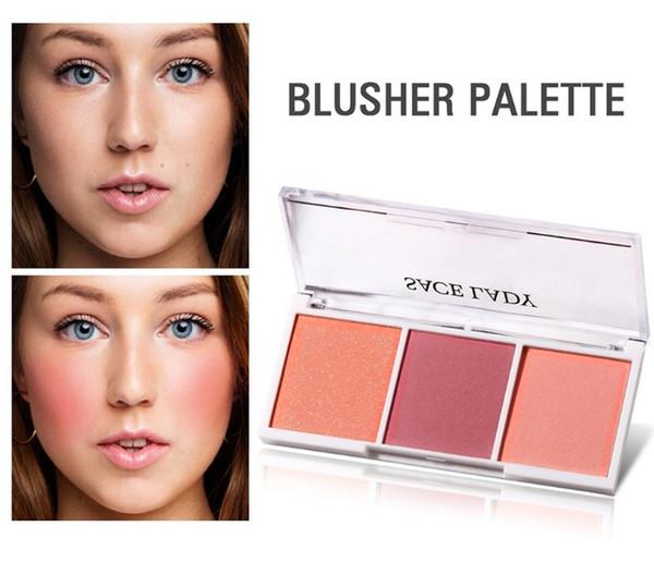 Venta al por mayor 4 colores Maquillaje Blush Shimmer Matter Bronceador Contorno de la cara Mineralizar Blush Palette Polvo Resaltador Colorete Melocotón Natural Maquillaje