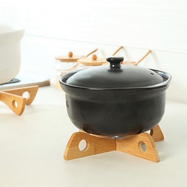 Nuovo legno tovaglietta vassoio cremagliera in legno staccabile tappetino da cucina pentola di raffreddamento termoisolante portabottiglie porta gadget