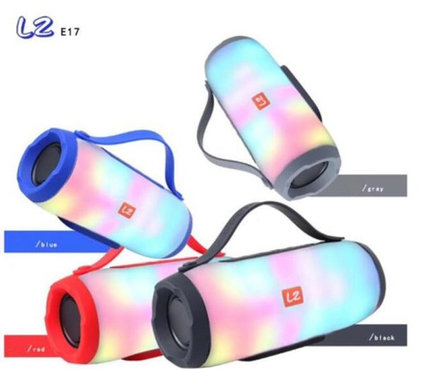 LZ-E17 wireless bluetooth speaker lantern card colorful dazzling LED fantasy lights outdoor small drums wholesale