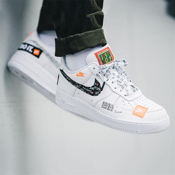 Lüks Tasarım (kutu ile birlikte) sadece onu Koşu ayakkabıları Nike Air Force One 1 Sneakers Erkek Kadın Gerçek Deri Casual Spor Ayakkabı x do