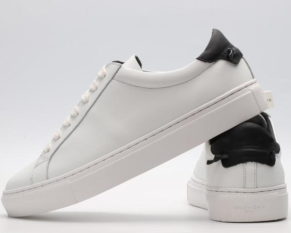 Tendance à bas prix designer casual chaussures blanches à la vente haut de gamme couple de concepteur chaussures casual bas pour aider à la mode chaussures casual sauvages