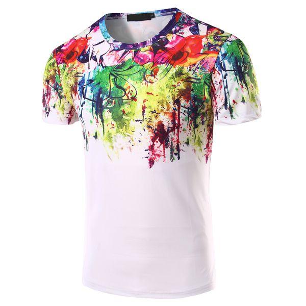 Atacado New 2018 mais novo projeto t shirt dos homens Hipster 3D impressão t-shirt verão moda casual tops tees camisetas marca clothing