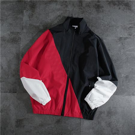 Designer Marca das mulheres dos homens Casacos Primavera Quebra-ventos de outono Ativo Casacos Zipper lapela Preto Pescoço com jaquetas vermelhas Top Quality A B101611V