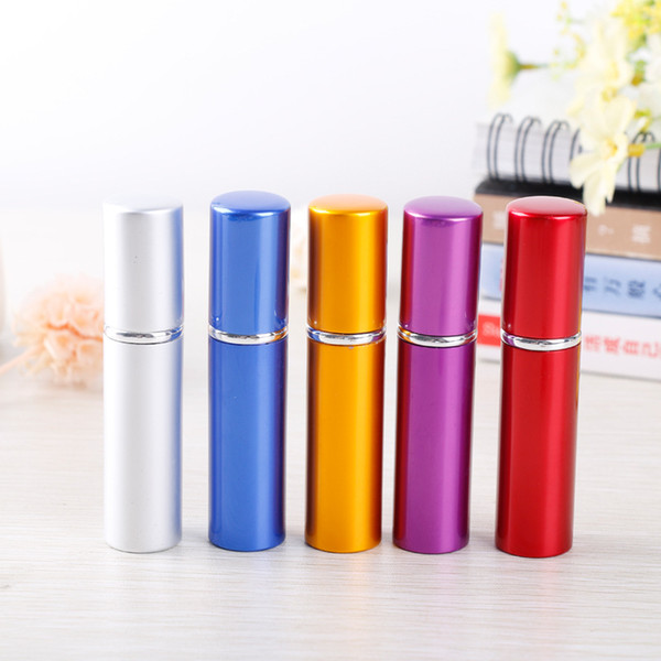 5ml Mini tragbarer nachfüllbarer Parfümzerstäuber 5 ml Aluminiumsprühflasche Leere Parfümflaschen Freie Qualität bunt