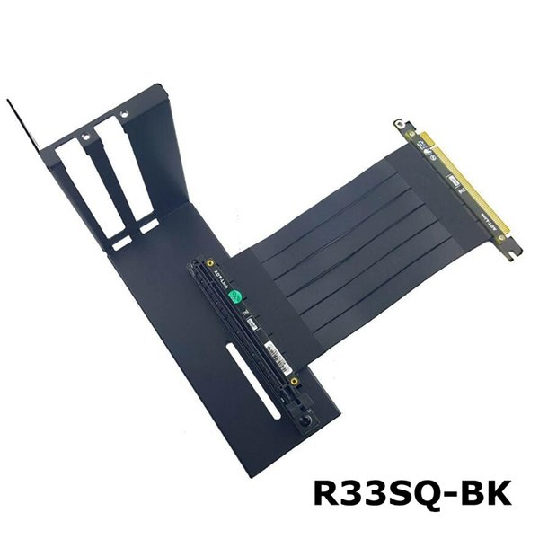 heap Computer Cables & Connectors R33SQ-BK graphics card bracket extension cable riser fixed vertical ATX case pci-e 16x x16 internal...