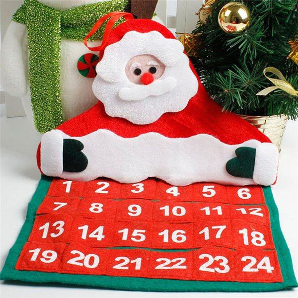 Christmas Mini Santa Claus Calendar 2019 Merry Christmas Decorations Xmas Ornament Home Family Pendant #4n06#f