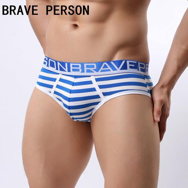 2019 Sexy Mens Underwear Cueca Homens Bolsa Pênis Biquíni Listrado Gay Cuecas Cuecas Sexi Calzoncillos Hombre Deslizamentos Marca
