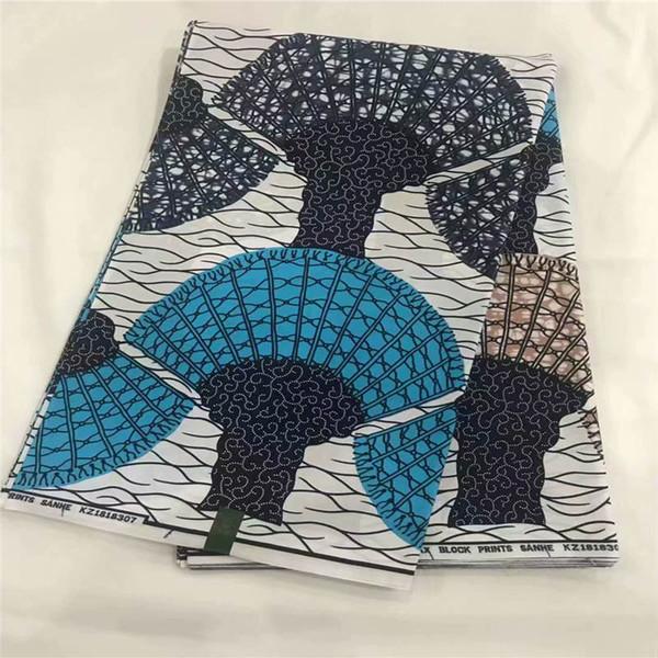DF! Garantili blok afrika ankara baskılı kumaş gerçek java balmumu kumaş 6 yards moda giysileri için! J31315