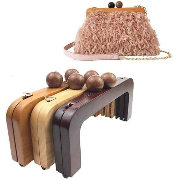 20cm square Purse Bag Wooden frame