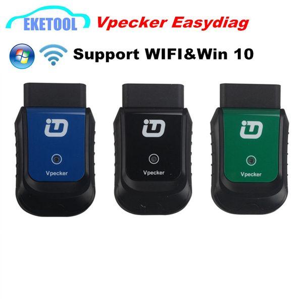 Newest V8.1 Vpecker Easydiag Wirelss OBD OBDII Professional Diagnostic Tool Works Multi-Cars Universal Vpecker Win10 Original