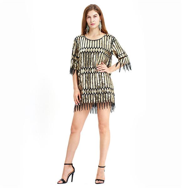 Gold Sexy Latin Sequin Dance Dress Special Offer Club Wear Dance Dress Women Costume Salsa Dresses Cheap cps1278