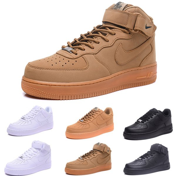 nike air force 1 one Dunk One 1 Dunk Luxury Mens Casual Shoes Chaussures Skateboarding Negro Blanco Naranja Trigo Mujeres Hombres Alto Bajo Diseñador Trainer Plataforma Sneaker