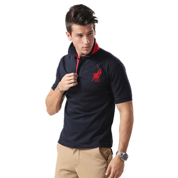New casual business men's Polo shirt for summer 2019 short sleeve stripe plain Polo shirt men's wear designer T-shirt for men's wear