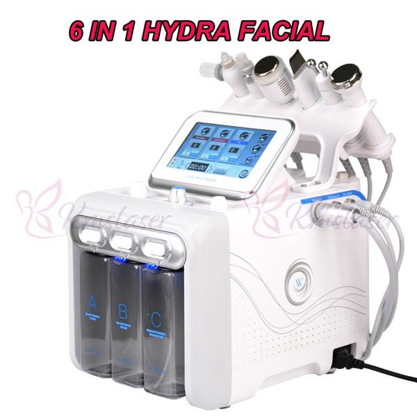 6 in 1 Hydra Gesichts Maschine Sauerstoff Jet Peeling Hautverjüngung BIO RF Facelifting Skin Scrubber Tiefenreinigungsmaschine