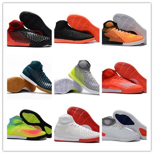 2017 botas de fútbol sala originales MagistaX Proximo II IC zapatos grapas TF botas de fútbol baratas magista x fútbol sala los niños zapatos de fútbol de cuero