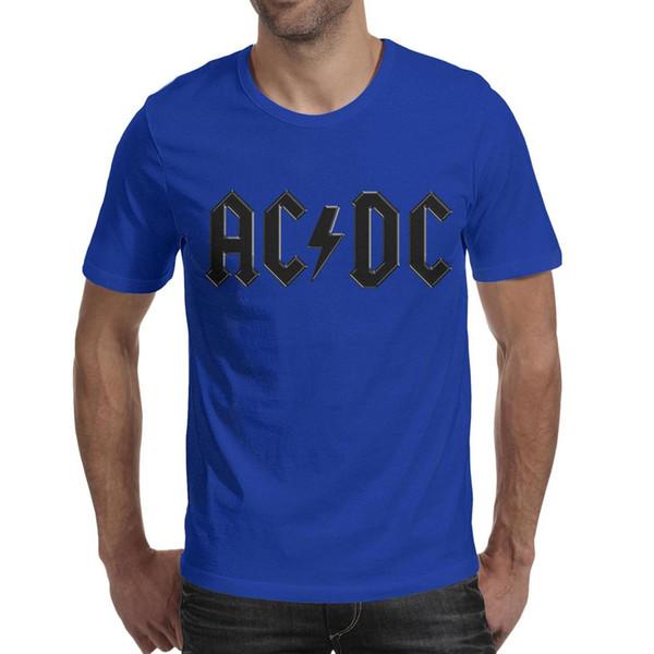 AC DC Back in Black 2019 Summer custom T Shirt For Men band slim fit shirts