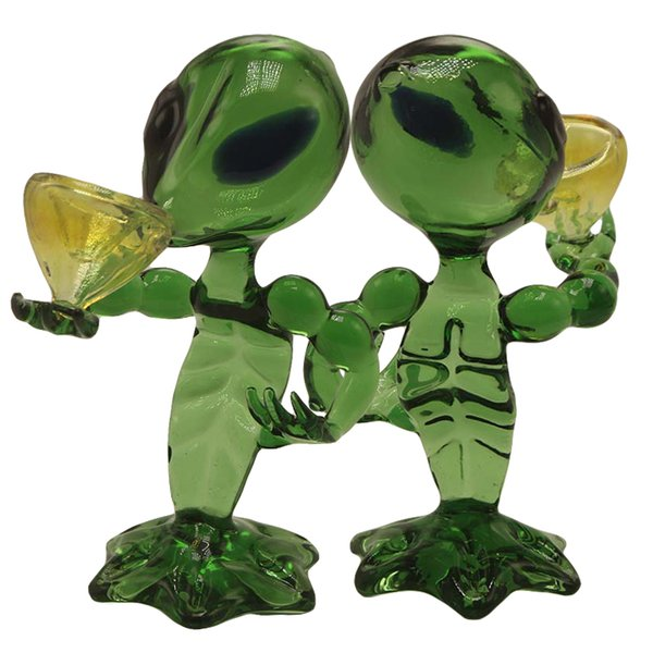 DHL Free G Spot Alien Pipes Recycler Dab Rig Glass Smoking Pipe Hand Pipes 15.5cm Height Alien Glass Oil Rig Dab Bong