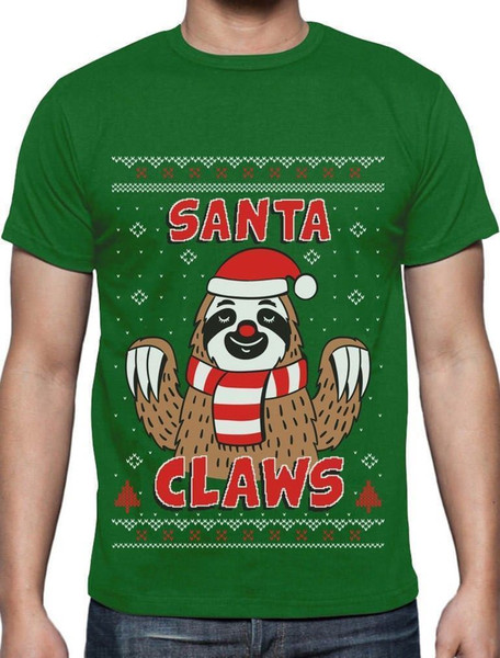 Ugly Christmas Sweater Funny.Santa Claws Sloth Ugly Christmas Sweater Funny Xmas T Shirt Gift Idea Men Women Unisex Fashion Tshirt Black Neck T Shirts T Shirts Only From