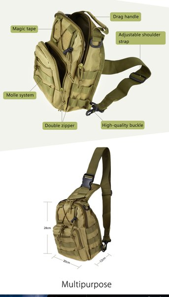 Outlife Nylon Military Tactical Backpack Army Molle Shoulder Camping Camouflage Hiking Backpack Hunting Bag Utility Trekking Bag