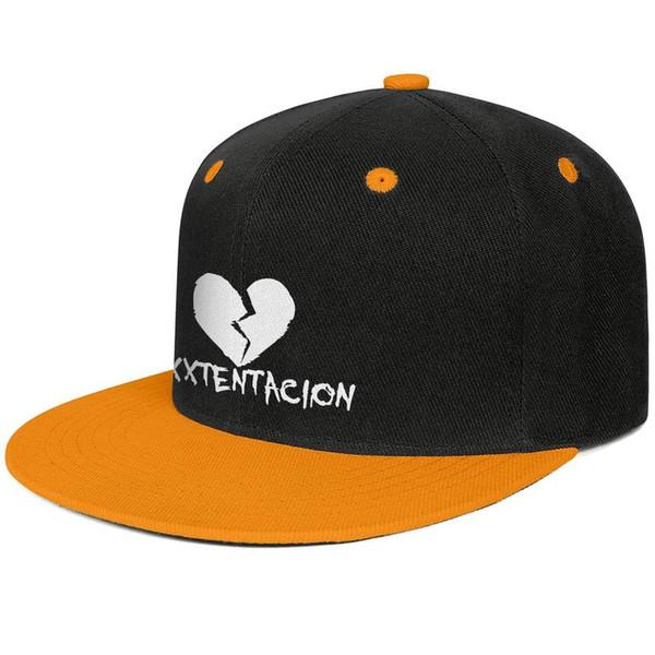 Chapeaux de camionneur mens personnalisé pour hommes XXXTentacion coeur fendu à plat bord Hip Hop Snapbacks chapeaux chapeau de soleil pas cher
