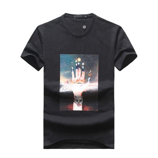 2019 Summer Fashion Brand Tag Short Sleeve Men's T-Shirts GG0025 Bees design Italy style cotton Man Clothing tshirt Tiger snake O-neck tees
