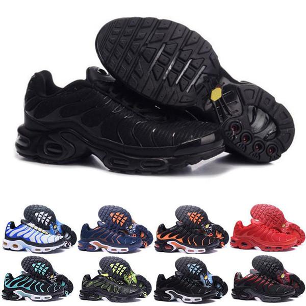 Wholesale 2018 Mens Original Fashion CaSUAl TN AIR ShOes Sales TOP Quality Cheap France fashion luxury mens women designer sandals shoes
