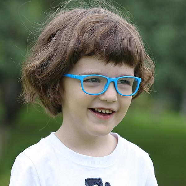 Bükülebilir Hiçbir Vida Çocuk Çerçeve Gözlük Erkek Kız Çocuk Gözlük Esnek Çocuk Çerçeveleri Gözlük Silika jel Optik Gözlük 1 grup 5 adet