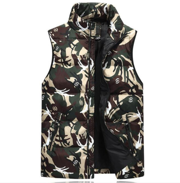Fashion Mens Vests Winter Designer Jackets With Pocket High Quality Warm Stand Collar Mens Outerwear Coats Clothing 3 Colors M-3XL