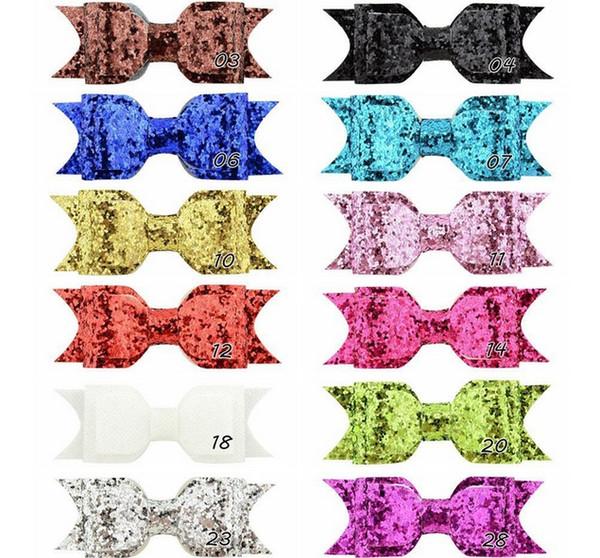 12 colors 3.75 Inch Women Girl Large Glitter Hair Clips Fashion hair clip Bling Shining Kids Hair Accessories Hairpins Headwear 752